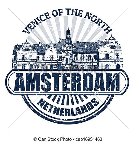 Amsterdam clipart With rubber Amsterdam stamp stamp