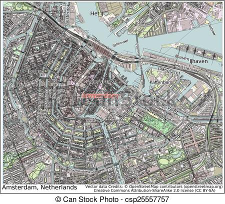 Amsterdam clipart Map Netherlands Vector city of