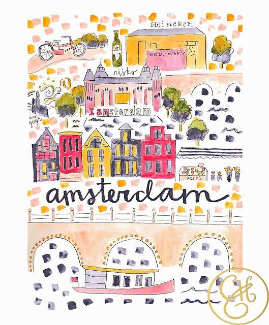 Amsterdam clipart Pinterest map Print ideas Best