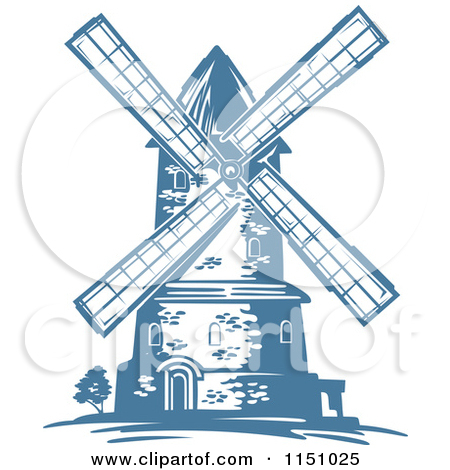 Amsterdam clipart Blue of blue Windmills by