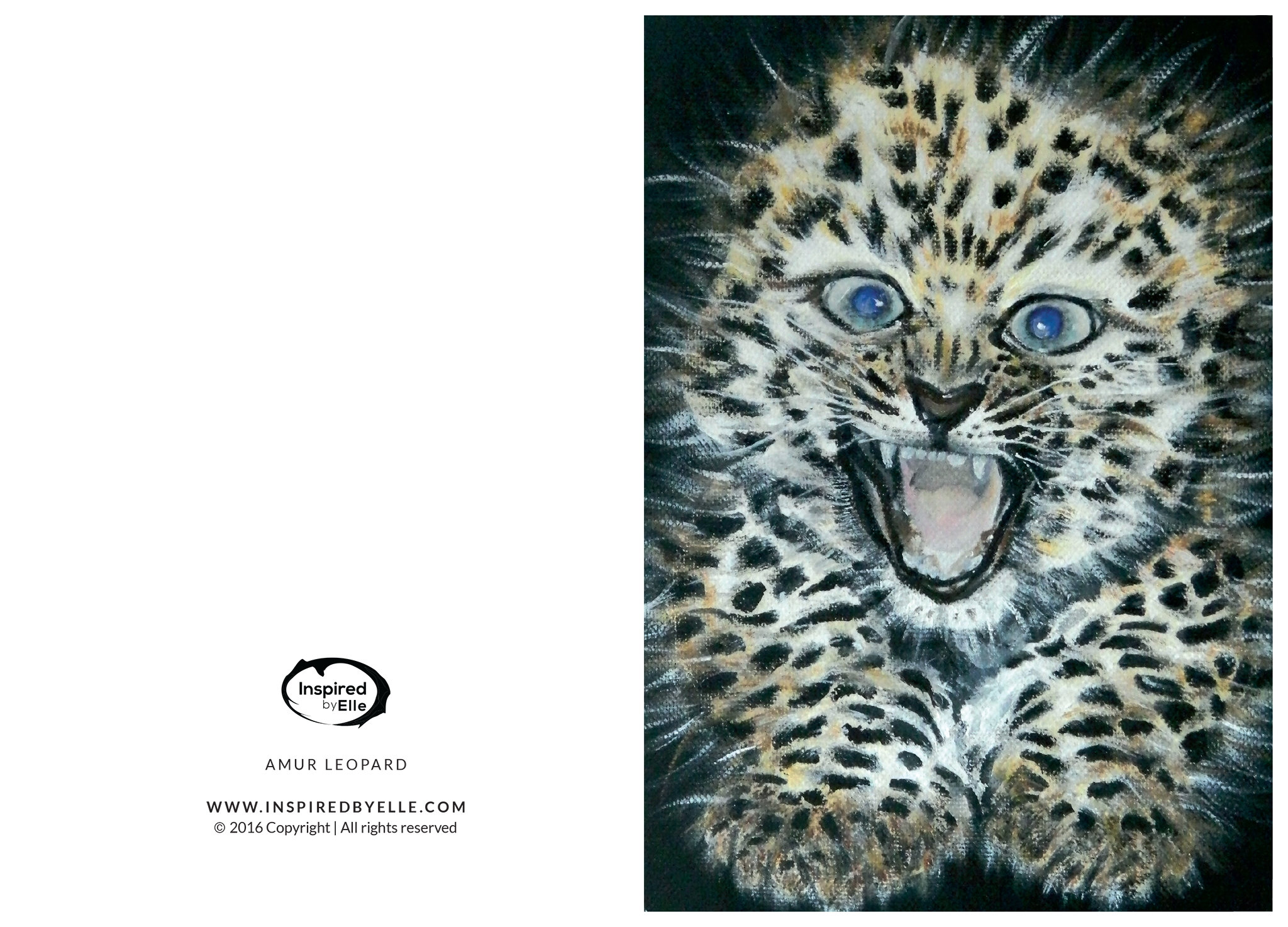 Amur Leopard clipart baby cheetah Greeting Species Greeting Amur By