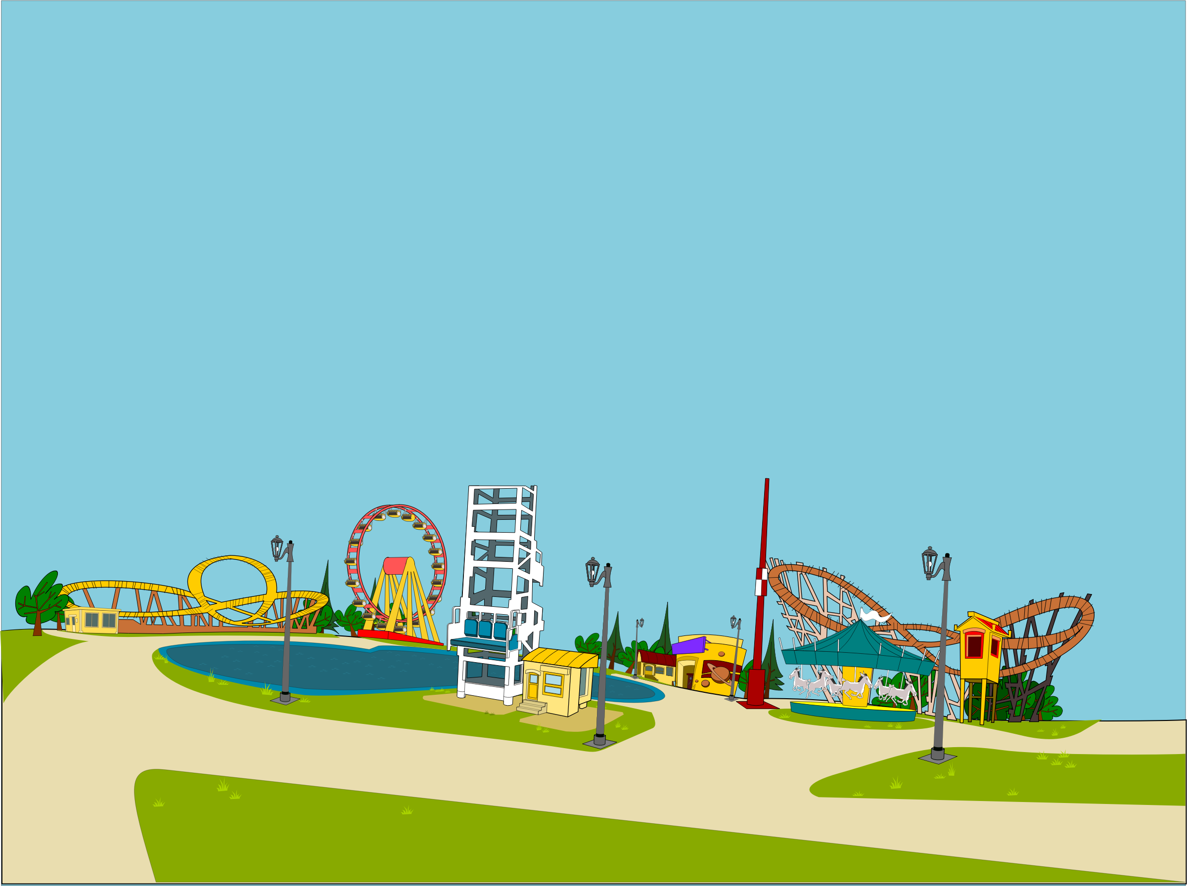 Amusement Park clipart fair game Clipart park clipart collection com