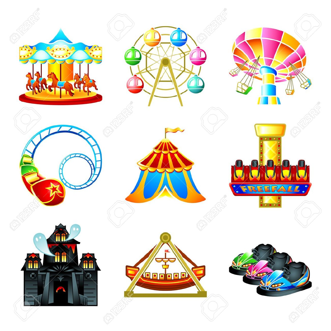 Amusement Park clipart fair game Clipart Rides ride clipart Collection