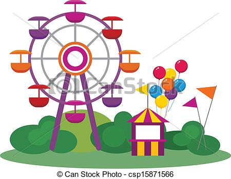 Ferris Wheel clipart vintage Collection Amusement Park ride Amusement