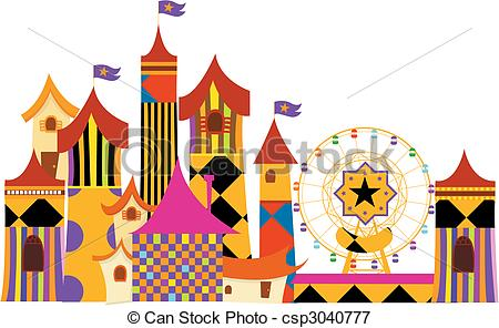 Amusement Park clipart 8 parks Stock Illustrationsby Amusement