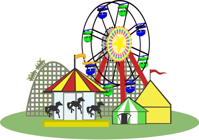 Carneval clipart roller coaster 2 amusement clipartfox Amusement Family