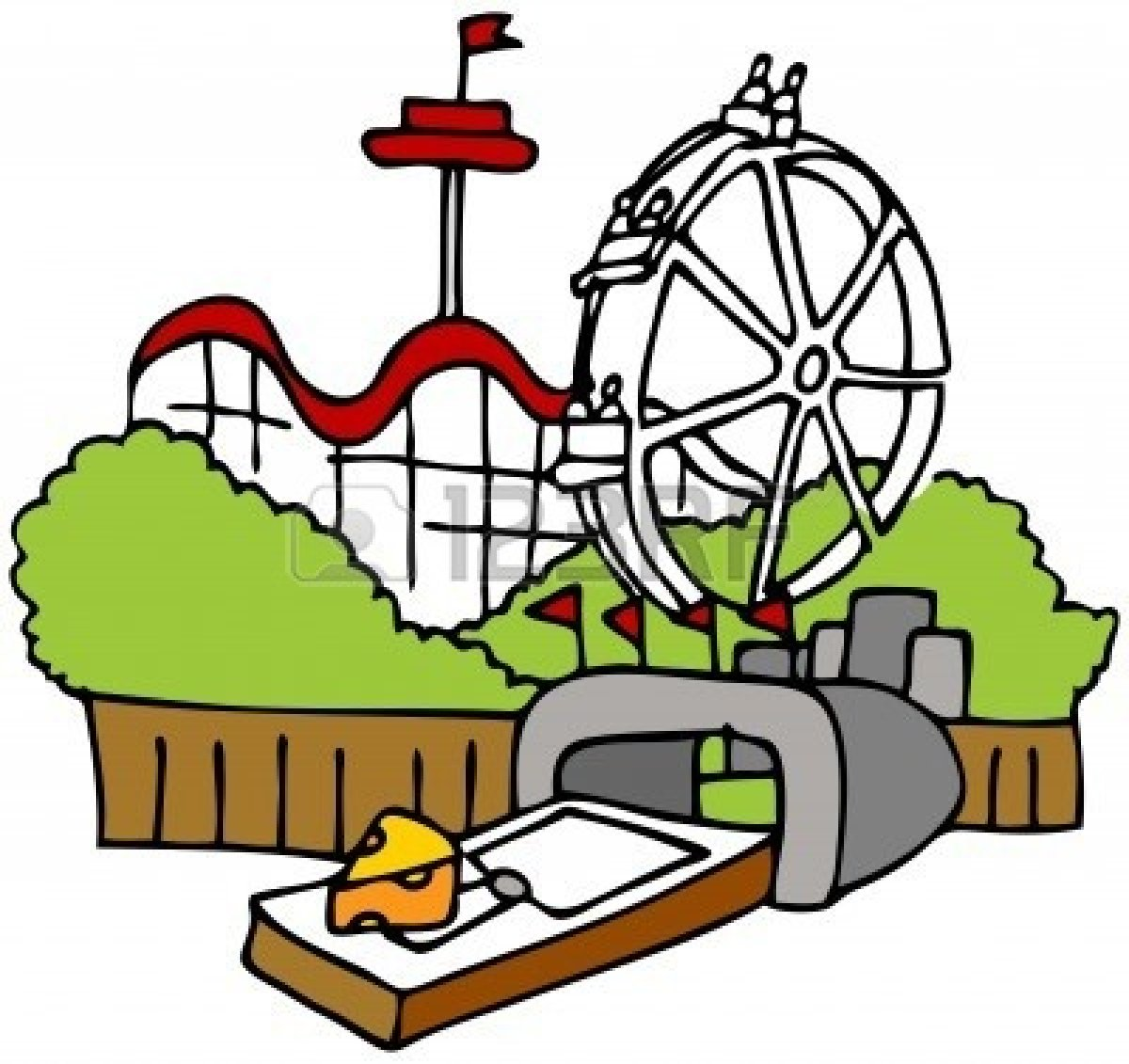 Amusement Park clipart Cliparting park clipart clipartfox 3