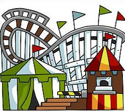 Carneval clipart roller coaster Park Amusement Amusement Clipart Free