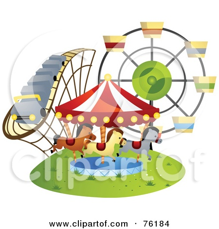Amusement Park clipart fair game G A carousel The And