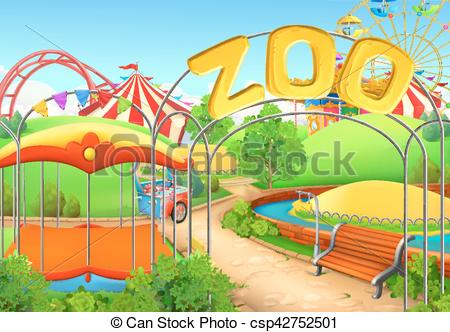 Playground clipart school fun Vector Zoo playground park Children
