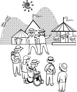 Amusement Park clipart sketch Amusement Park Clip Amusement Download