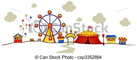 Amusement Park clipart sketch Clip Clipping park Theme art