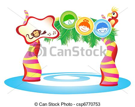 Amusement Park clipart theme park Park with collection kids Theme