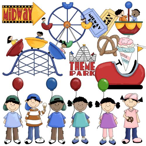Amusement Park clipart theme park Park Images Clker at com