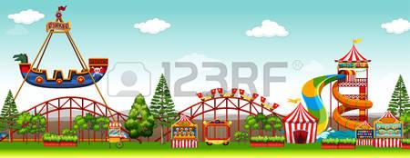 Amusement Park clipart theme park Park collection Park Games 432