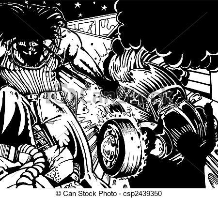 Anarchy clipart riot Hand csp2439350 Riot drawn Vector