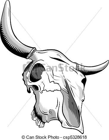 Anatomy clipart animal skull Vector on of white animal