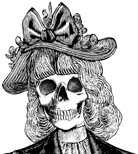 Anatomy clipart animal skull Skull DigitalGraphicsShop hat lady HatsAnimal