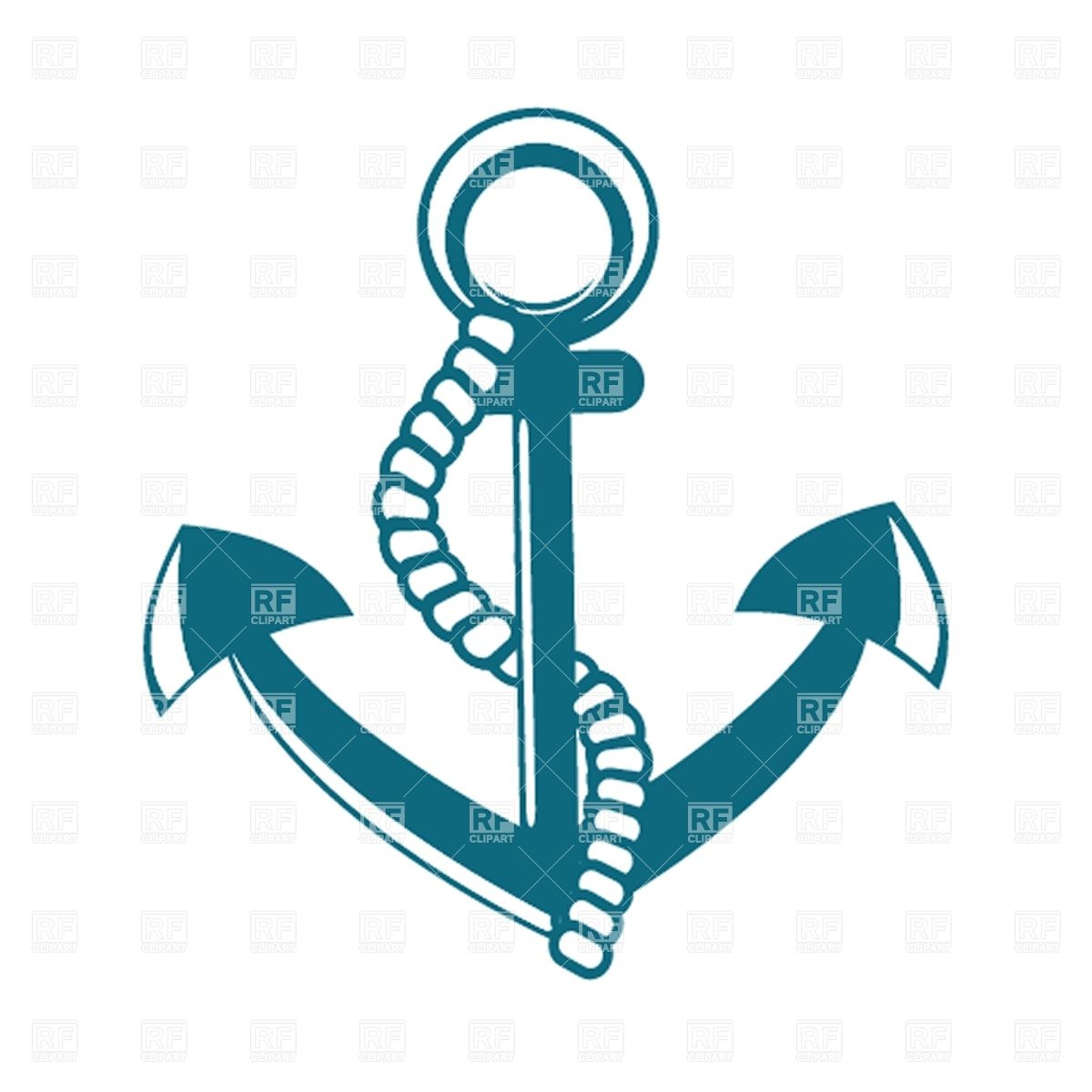 Navy clipart anchor rope #7