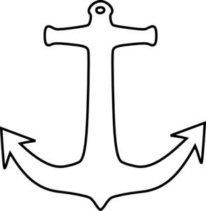 Anchor clipart black and white Graphics com vector art Anchor