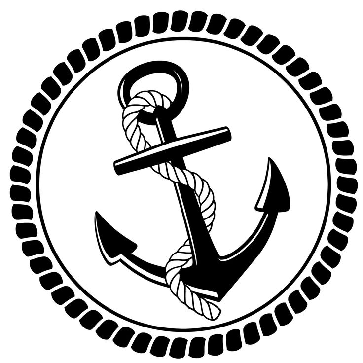 Anchor clipart black and white Images Pinterest rope 55 best