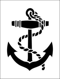 Anchor clipart black and white Stencils Anchor range Stencil online