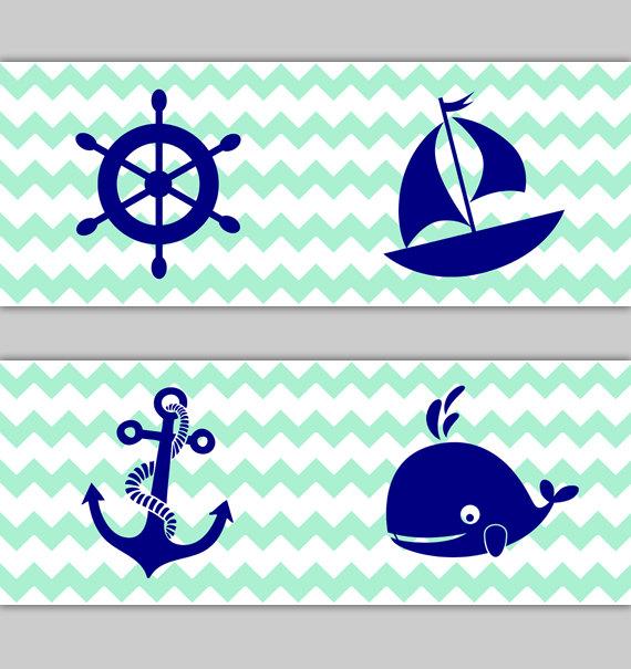 Mint clipart anchor Navy Decal Anchor Art Blue