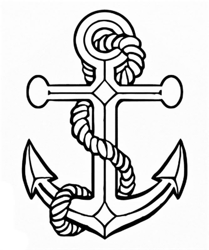 Drawn anchor cross An  Picture Images Art