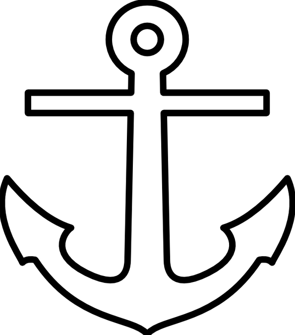 Drawn anchor vector Anchor Family Sewing Applique After