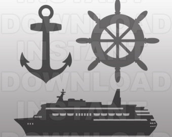 Anchor clipart cruise File Ship SVG Cruise SVG