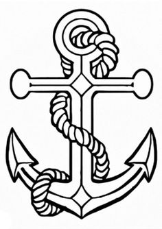 Drawn anchor transparent Background transparent  Delta ankor