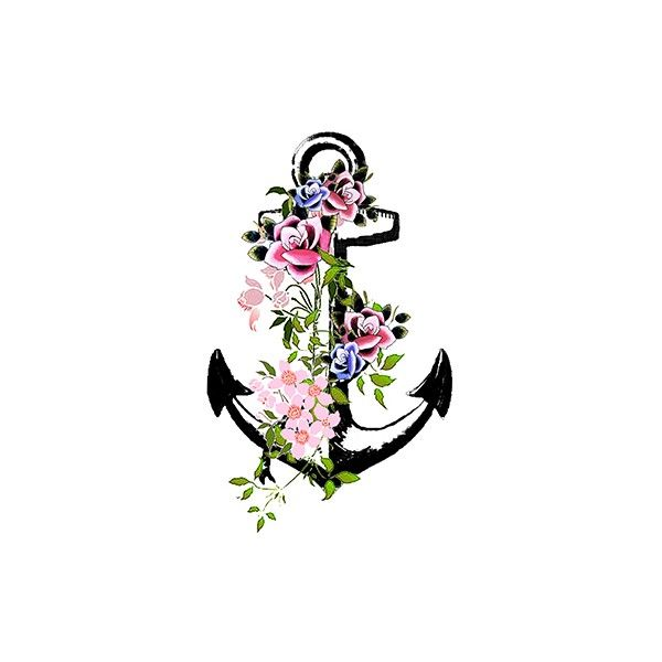 Anchor clipart floral Tattoo jpg anchor tattoo Best