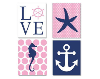 Pink clipart nautical Anchor navy anchor clipart Clip