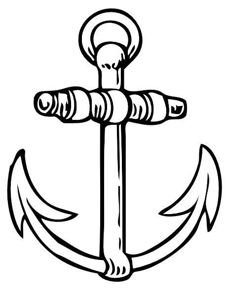 Drawn anchor ancor Clip at Clker art royalty
