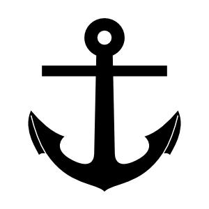 Drawn anchor ancor  Silhouette Art at Anchor