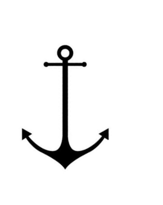Drawn anchor small Printable Digital Clip Stencil Nautical
