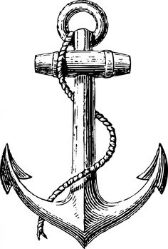 Drawn anchor transparent  Delta art clip Search