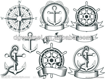 Drawn compass classic Compass tatted Tattoo Boat Boat