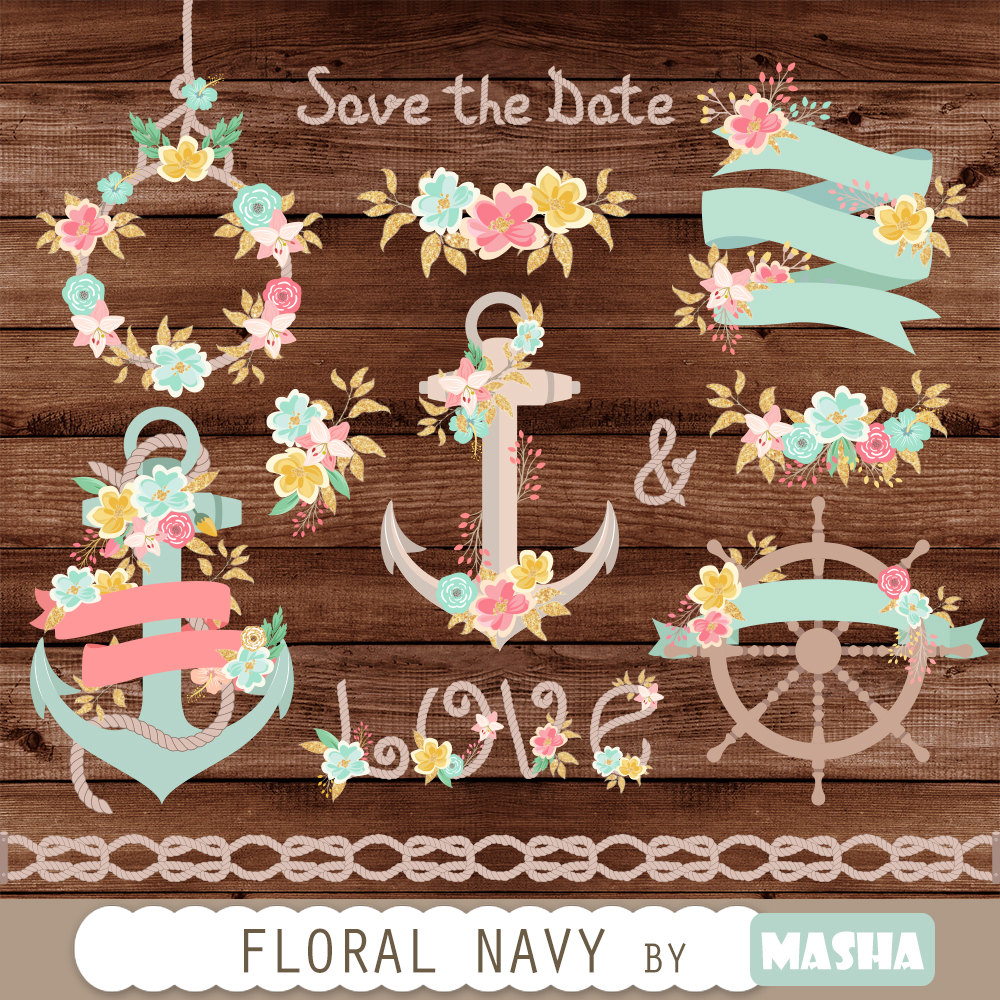 Navy clipart anchor rope #13