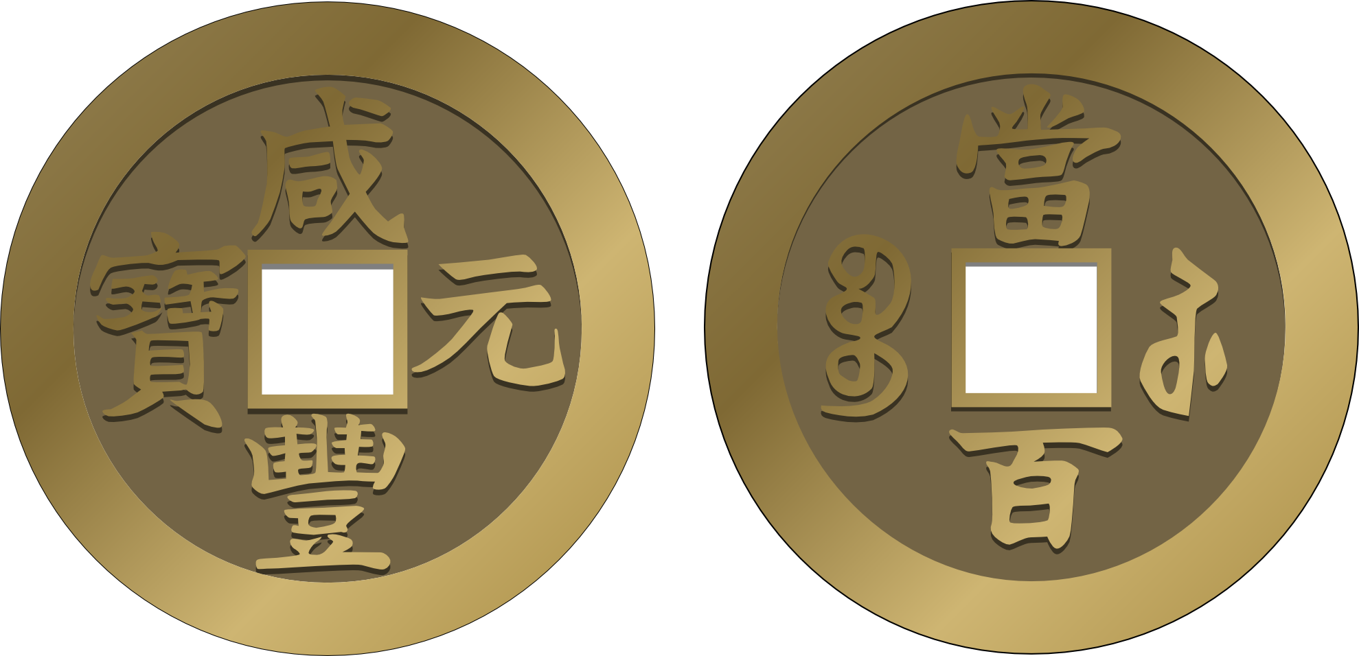 Coin clipart boy with Chinese Chinese  Coins »