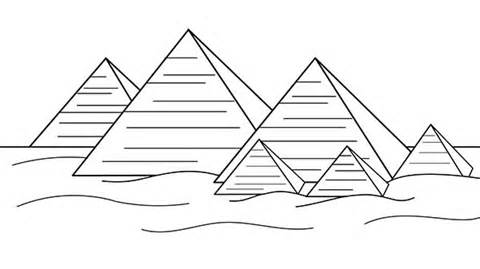 Ancient clipart great pyramid #9