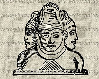 Ancient clipart hindu Clip Hindu Faces Ancient Etsy