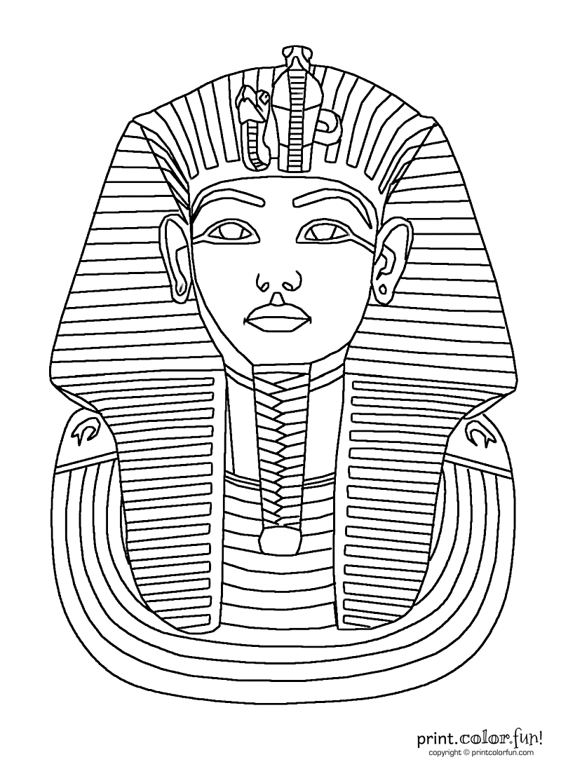 Ancient clipart king tut Mask by king Template of
