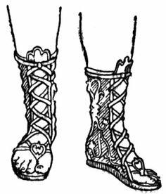 Sandal clipart ancient greek Boots Pinterest Egyptian Ancient shoes