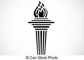 Torch clipart black and white Art 6 Iconic  Torch
