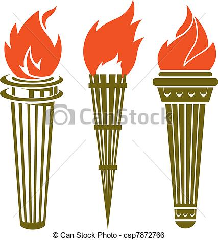 Torch clipart education And 6 Stock Torches art