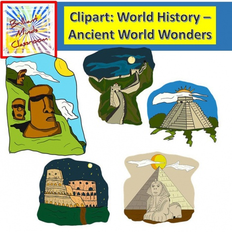 Colosseum clipart wonders the world Acient Wonders Island China Easter