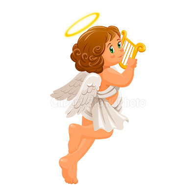 Harp clipart black and white Christmas Art Art Art Angel