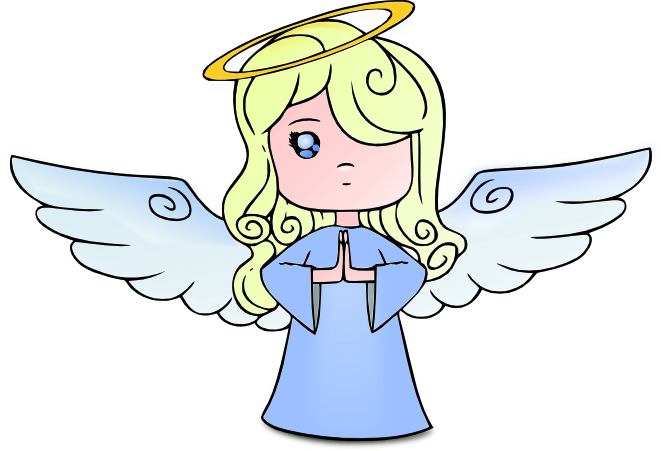 Heaven clipart angel This cute blonde vector the