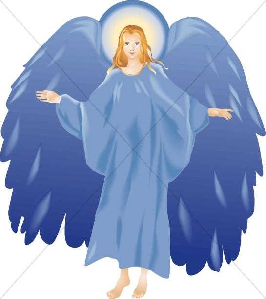 Angel clipart line art Graphics Clipart Blue Angel Angels